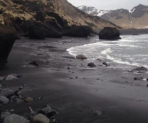 theme, beach, and black image