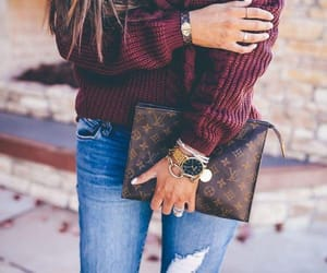 accessories, clutch, and handbag image