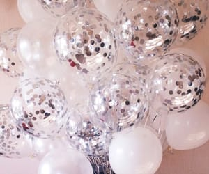 balloons, beautiful, and confetti image