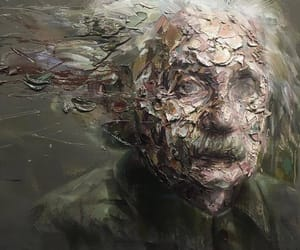 Albert Einstein, art, and einstein image