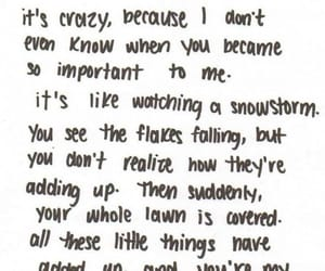 love, quotes, and snowstorm image