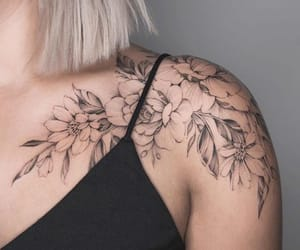 black and white, flowers, and ink image