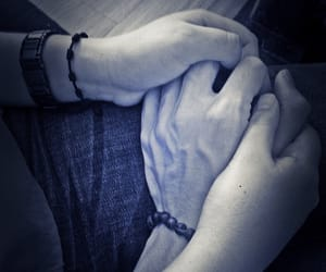 hands, back & white, and love image