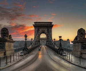bridge, hungary, and travel image