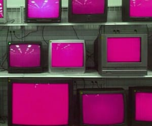 pink, tv, and aesthetic image