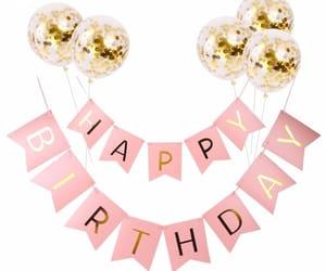 balloon, birthday, and food image