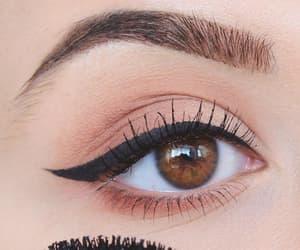 black, eyeliner, and makeup image