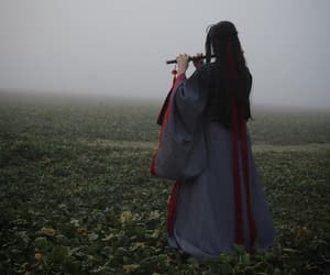 black, chinese, and flute image