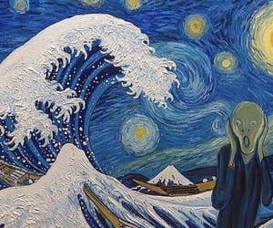 art, starrynight, and vangogh image