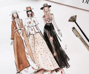 brown, fashion, and sketch image