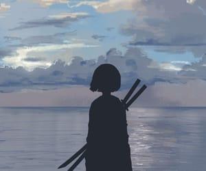 anime, girl, and samuray image