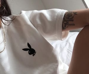 girl, Playboy, and tattoo image