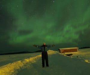 aurora borealis, happy girl, and erasmus image