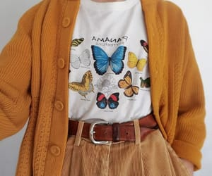 butterfly, orange, and clothes image