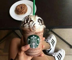 donuts, sneakers, and starbucks image