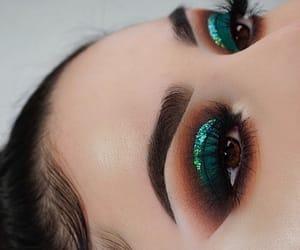 beauty, eyeshadow, and brown eyes image
