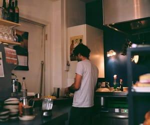 kitchen, boy, and vintage image