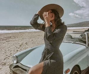 car, dress, and sky image