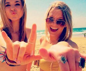 beach, bff, and best friends image