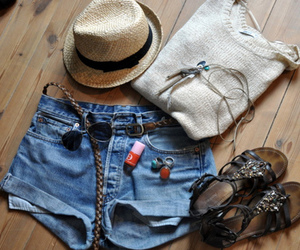 fashion, hat, and sandals image