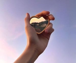 aesthetic, sky, and heart image
