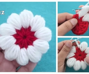 crochet, flower, and puff stitch image