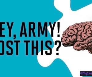 army, brain, and kpop image