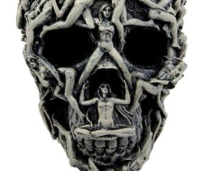 dark, skeleton, and skull image
