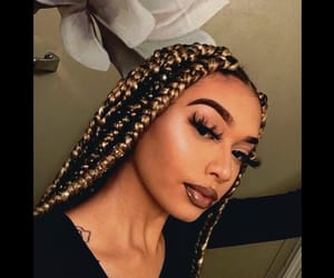 beauty, black girl, and braids image
