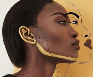 yellow, girl, and art image