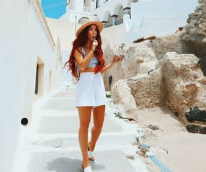 Greece, long hair, and outfit image