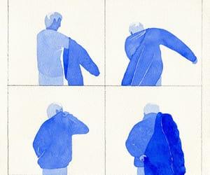 art, blue, and boy image