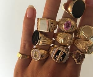 rings, gold, and fashion image