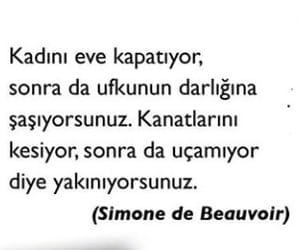 simone de beauvoir, alıntı, and türkçe sözler image