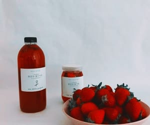 aesthetic, red, and strawberries image