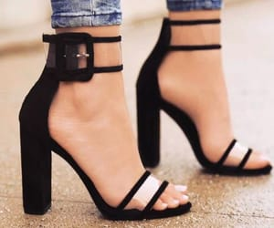 high heels, shoes, and black image