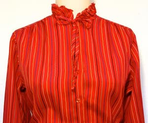 etsy, red striped shirt, and red striped blouse image