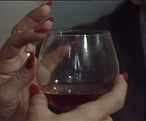 wine, red, and nails image