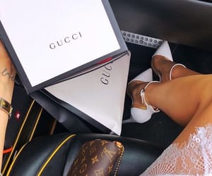 gucci, LV, and woman image