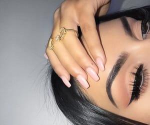 beauty, nails, and eyeliner image