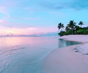 beach, landscape, and paradise image