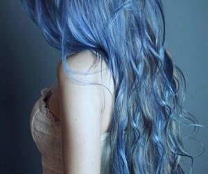 blue, mermaid, and blue hair image