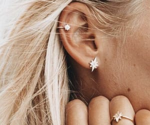 girl, earrings, and fashion image