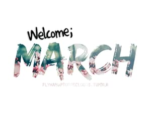 gif, march, and welcome image
