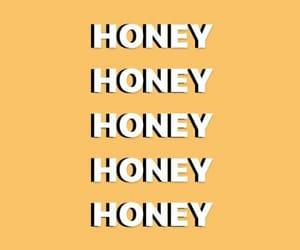 wallpaper, honey, and yellow image