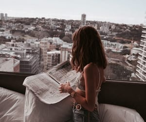 model, city, and fashion image