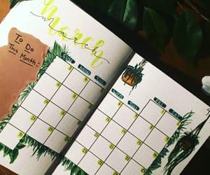calendar, grass, and green image