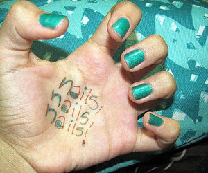 blue, miniti, and hand image
