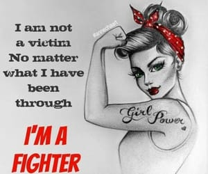 feminist, girl power, and girl fighter image