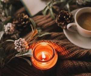candle, autumn, and blanket image